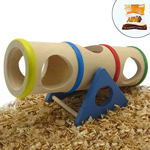 Alfie-Pet-by-Petoga-Couture-Small-Animal-Playground-Karo-Cylinder-Wooden-Seesaw-Toy-for-Mouse-and-Dwarf-Hamster-0