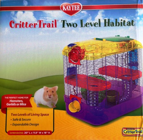 Kaytee Critter Trail 2 Level Habitat Hamster Cages And