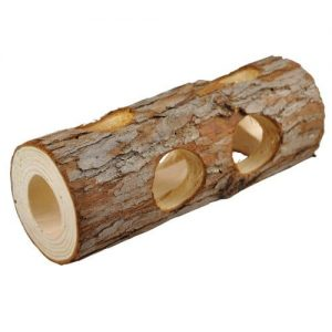 NiteangeL-Natural-Wooden-Hamster-Mouse-Tunnel-Tube-Toy-Forest-Hollow-Tree-Trunk-0