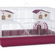 Prevue-Hendryx-SP2060R-Deluxe-Hamster-and-Gerbil-Cage-Bordeaux-Red-0
