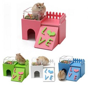 Whitelotous-Hamster-Double-layer-Multifunctional-Sleep-Nest-Hideaway-House-with-Feeder-Natural-Gym-Toy-0