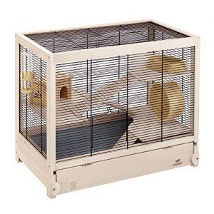 Ferplast-HAMSTERVILLE-Hamster-Habitat-Cage-Sturdy-Wooden-Structure-Black-0