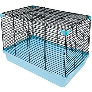 HamsFam-Small-Animal-Habitat-Hamster-Cage-Blue-and-Black-0